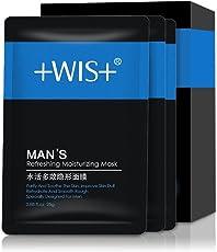 WIS男士补水活力隐形面膜贴20片 提亮控油保湿收缩毛孔清洁套装
