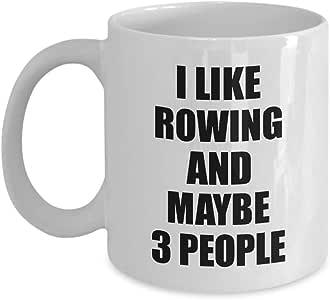 Rowing Mug Lover I Like 趣味礼物创意爱好上瘾新奇 Pun 咖啡茶杯 白色 11 oz