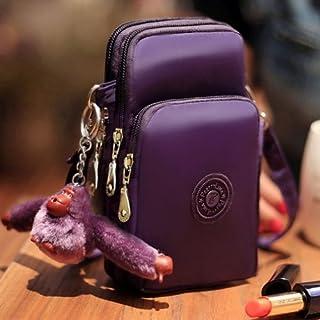 alsatek 通用聚苯乙烯面料单肩包适用于索尼 Xperia Z L36H Yuga C6603 紫色