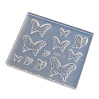 シリコーン製ソフトモールド ぷっくり蝶々