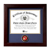 Allied Frame United States Marine Corps Certificate of Achievement Frame