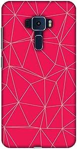 AMZER 设计师纤薄扣硬质手机壳带屏幕保护套件适用于华硕 Zenfone 3 ZE552KL Carbon Fiber Redux Candy Red 14
