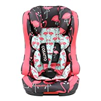 COSATTO 卡萨图英国品牌儿童安全座椅 HUBBUB 乐翻天系列 9月-12岁承重9-36KG FLAMINGBO FLING 火烈鸟 CT3171
