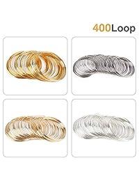 400 圈珠宝线*珠线*钢丝袖口手镯手镯用于艺术创作手链项链珠宝制作玩偶和 DIY 工艺制作