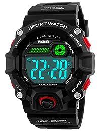 男式运动手表通话音乐 ALARM SNOOZE LED 数字手表户外*防震夜光手表