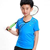 羽毛球服上衣男女款儿童亲子服运动服速干夏短袖训练比赛羽毛球服