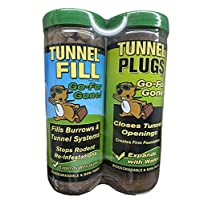 Wonder Soil 扩张隧道填料和隧道插头组合 – 填充鼠、Moles、松鼠、地猪、木棍、Voles、臭鼬、徽章、兔子等隧道 – *、家庭和宠物*