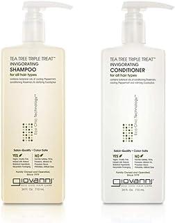 Giovanni Giovanni 生态时尚茶树三重护理清爽洗发水和护发素套装,24 盎司,24 液体盎司