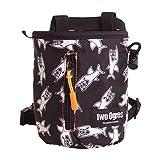 2 个 Ogres Basique v2 登山粉笔包带腰带和拉链口袋适用于登山、体操、举重