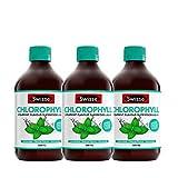 3瓶装 SWISSE 薄荷味叶绿素液500ml/瓶 叶绿素 清体 调理肠胃 排毒 澳洲品牌 原装进口