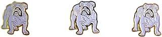 Bull Dog School Mascot 金色 搪瓷翻领别针,3 件装