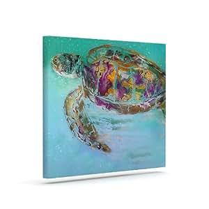 """Kess InHouse Josh Serafin""""Mommy"""" 海龟户外帆布墙壁艺术 20"""" x 24"""" JS2011AAC04"""