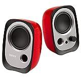 Edifier 漫步者 R12U 外观时尚、音质纯正的入门级微型2.0桌面音响 笔记本音箱 红色