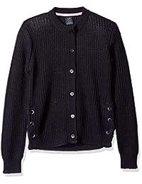 U.S. Polo Assn. 女童爆米花针织开衫毛衣