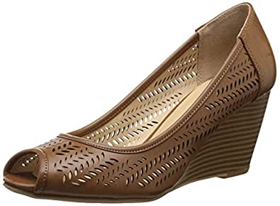 CL by Chinese Laundry Women's NICE GAME BURNISH Wedge Sandal Rich Brown 10 B(M) US