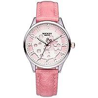 Disney 迪士尼 儿童手表 女孩韩版时尚少女手表中学生休闲腕表女士手表11001P 粉色