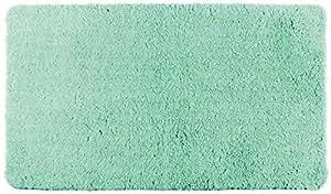 WENKO 浴室地毯伯利兹浴垫, 绒超软, 棉绒自由, 涤纶 松石绿 90 x 60 cm