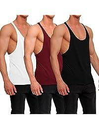 OA 3 Pack Save Men's Stringer Raw Edge Vest Y Back Tank Tops