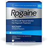 Rogaine Men's Hair Loss & Hair Regrowth Treatment, Minoxidil Topical Solution, Three Month Supply (pack of 3) 3 Month Supply