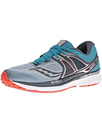 saucony 男式 TRIUMPH ISO 3跑步鞋,灰色黑色,美国尺码