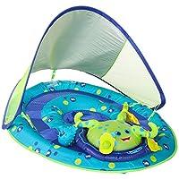 SwimWays 婴儿弹簧浮动活动中心带顶篷 章鱼 Basic Pack 绿色