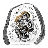 Aljulia 4154 纸张重量 Devotionalien Holy 家庭,水晶,12 厘米,12 厘米 x 3 x 12 厘米