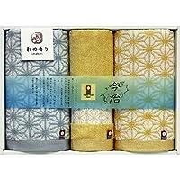 Ohisotowel 毛巾礼盒套装 - 面巾 2条 34×75厘米 洗脸毛巾 34×35厘米 今治制 日式香味