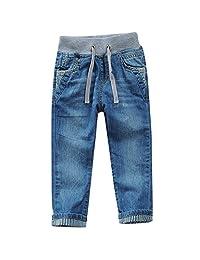 巴拉博士童 童装新款春夏儿童男童牛仔裤休闲小脚口大中小童长裤