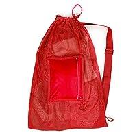 Fitdom 大号抽绳吊带游泳网包。 *适合您游泳*管训练装备和防水口袋,可放置手机钱包或配件 - 可调节肩带,适合儿童和成人