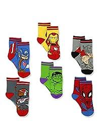 *英雄冒险蜘蛛侠男孩 6 双装运动袜(婴儿/幼儿)