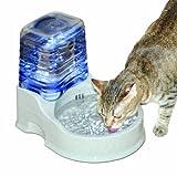 K&H Pet Products 宠物猫过滤水碗 灰色 80 oz bowl + 90 oz reservoir