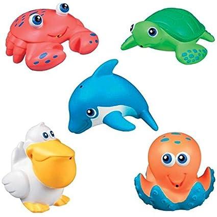 美国 Munchkin 满趣健海洋小动物洗澡喷水玩具5份MK31205