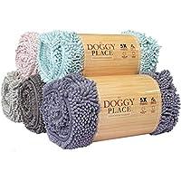 """My Doggy Place - 超吸水超细纤维狗门垫,耐用,快干,可水洗,防泥土,让您的家保持清洁 浅蓝色 Large (36"""" x 26"""")"""