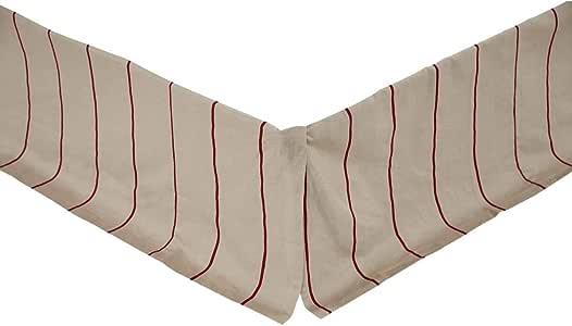 VHC Brands 25821 Charlotte Azure King 床裙 红色(Rouge) 两个 25783