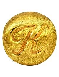 周生生 黄金(足金)Charme串珠系列转运珠字母K 87624C 【每件串珠送配绳1条,请在下方促销信息中自选并加入购物车】(亚马逊自营商品, 由供应商配送)