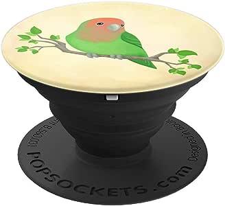 可爱可爱的鸟 PopSockets 手机和平板电脑抓握支架260027  黑色