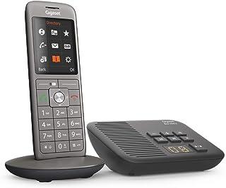 Gigaset CL660A 无绳电话,带电话答录机,DECT 电话,设计电话,配有TFT彩色显示屏,大型地址簿,煤黑色