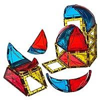 Playmags 164 28 件圆顶套装:现在带有更强的磁铁,坚固耐用,并带有鲜艳清晰的彩色瓷砖。