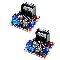 L298N 电机驱动控制器板模块,双 H 桥机器人步进电机控制,适用于 Arduino 智能汽车电源 UNO MEGA R3 Mega2560 (2PCS)