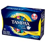 Tampax Pocket Pearl 塑料袋 常规款 Unscented, 36 Count - Pack of 3 (108 Total Count) 108