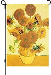 Premier 51963 花园照明旗帜,梵高向日葵,12 x 18 英寸