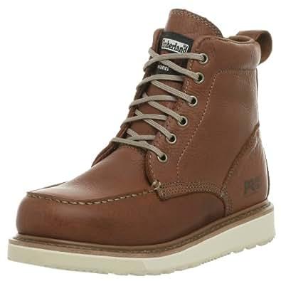 Timberland 添柏岚 PRO 男士 53009 Wedge Sole 6英寸软头靴 锈红色 7 W