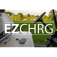 EZ Charge - 便携式双 USB 高尔夫球车手机充电器通用电池快速连接 ATV UTV 船只越野摩托车 RV 摩托车 雪地摩托拖拉机 生存急救 12 伏电源插座充电