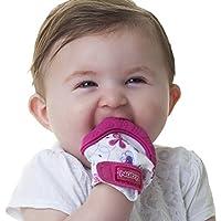 Nuby 快乐手舒缓出牙连指手套带 hygienic 旅行包 粉色