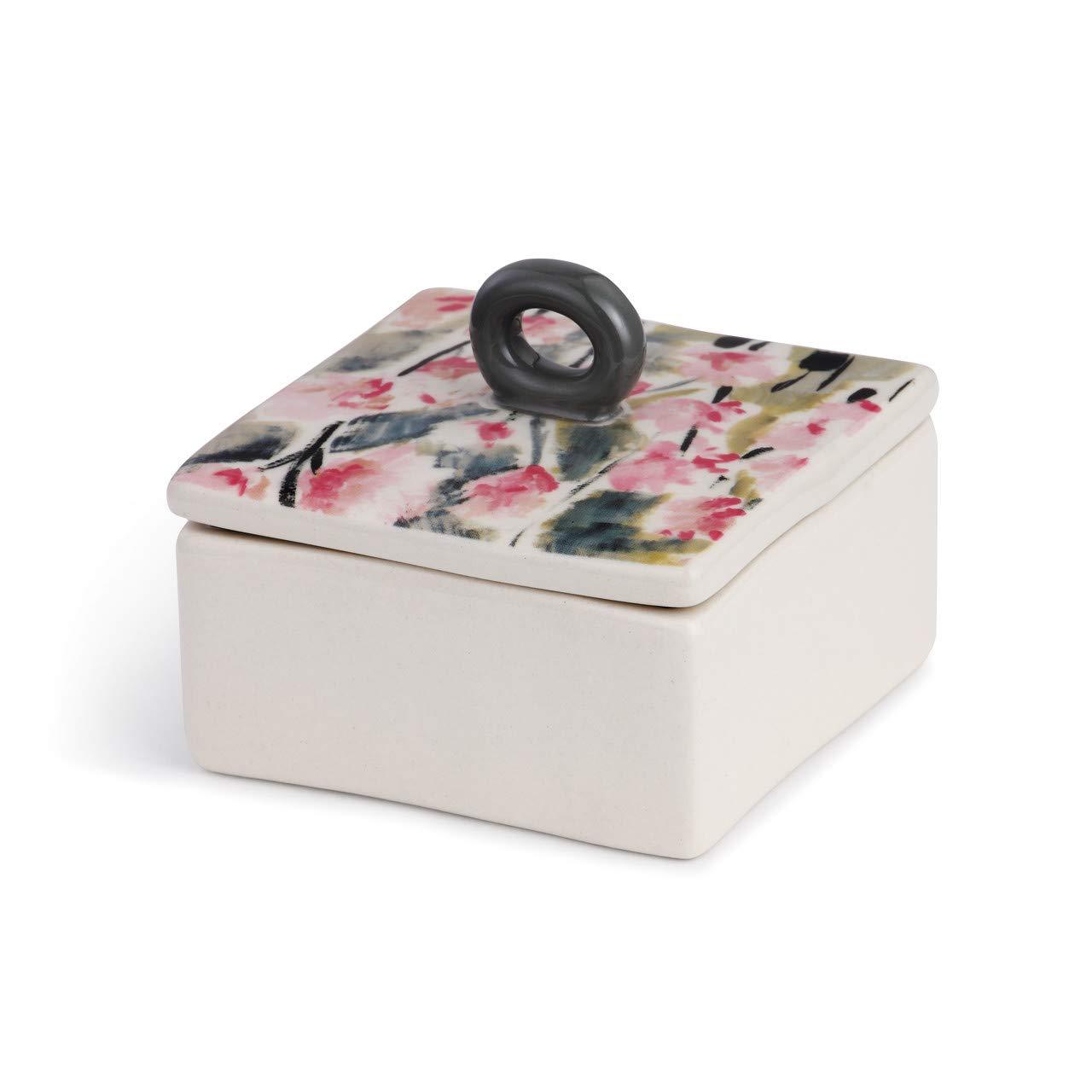 DEMDACO Painterly Floral Glossy 粉色 7.62 x 7.62 cm 陶瓷陶瓷首饰饰品首饰首饰首饰首饰首饰首饰首饰首饰首饰首饰首饰首饰盒