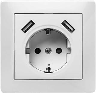 Famatel 9139,嵌入式插座 16A-250V + 2x USB 2.1 mA 雪白色