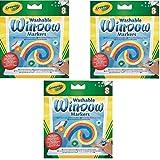 Crayola 8 只装可洗窗户马克笔 3 Pack