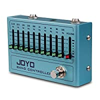 JOYO R-12 频段控制器均衡器 10 频段 EQ 踏板适用于吉他和贝司,吉他效果踏板,31.25Hz 至 16kHz,真实旁路