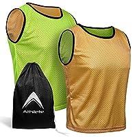 Athlon lete 双面皮尼(6 件装+免费携带袋)篮球足球训练背心球队缩水练习球衣