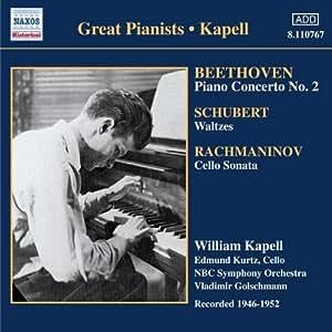 进口CD:贝多芬:第二钢琴协奏曲\舒伯特:圆舞曲和舞曲(1946-1952年录音)(CD)(8110767)